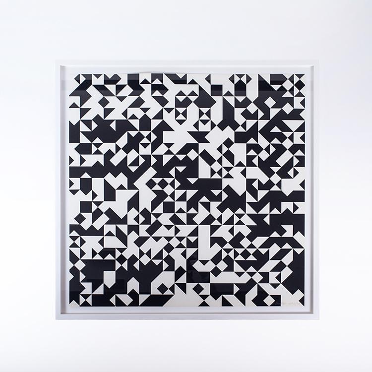 Siebdruck Tavola 7 von Francois Morellet
