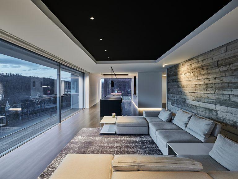 Architekturbeleuchtung für zwei Villen in Nagold, Wohnraum