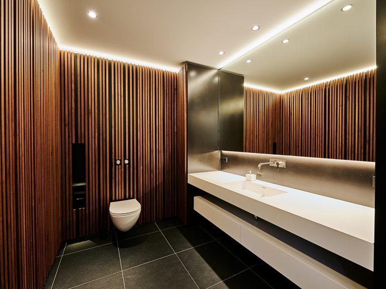 Architekturbeleuchtung für zwei Villen in Nagold, Badezimmer