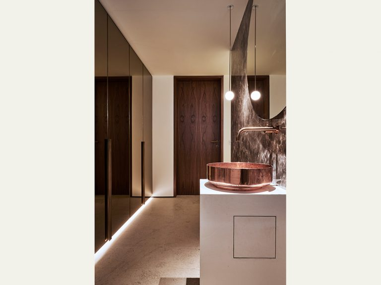 Lichtplanung für Haus S in Gerlingen, Waschtisch