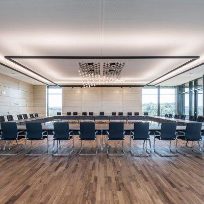 Lichtplanung Neue Mitte Remseck, großer Sitzungsaal